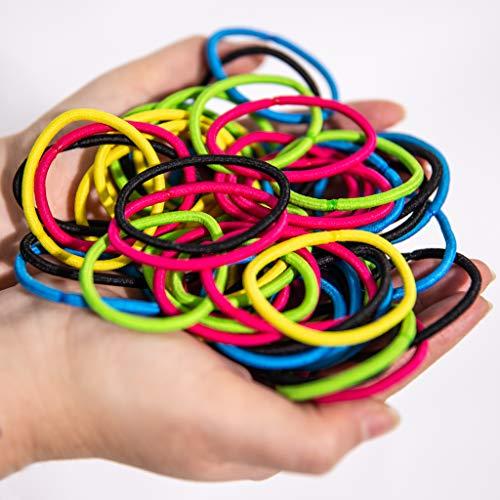 Slinkyes | 50 Pz | Elastici per Capelli | Lacci Colorati| Resistenti adatti per Bambina |Elastico...