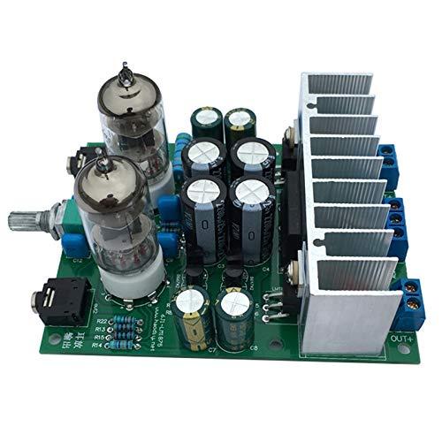Monland Amplificador de Tubo HiFi 6J1 Amplificador de Auriculares LM1875T Tablero de Amplificador de Potencia Kit de Bricolaje