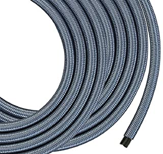 Monolith Speaker Wire - 50 Feet - Silver - 12AWG with Braided Nylon Sleeve, Oxygen Free Copper, Multi-Strand Conductors, PE Insulated (B07MT4QVTM) | Amazon price tracker / tracking, Amazon price history charts, Amazon price watches, Amazon price drop alerts
