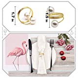 Sayopin Gold Serviettenringe 12 Stück Serviettenringe Set, Tischdekoration Serviettenhalter für Hochzeit Hotel Tisch Dekoration Party Serviettenringe - 3