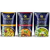 Red, Yellow, Green Curry Sauce - Blue Elephant Royal Thai Cuisine, Premium Thai Curry Sauce - Authentic Ingredients for Quick and Easy Meals at Home - 10.6oz (Assorted, 3-Pack)
