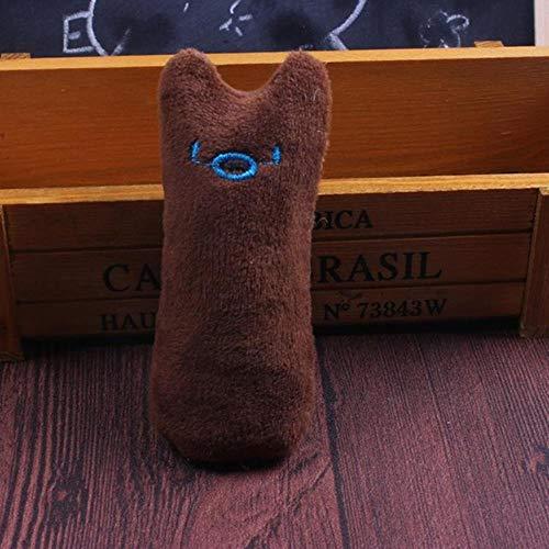 BSDIHRIWEJFHSIE Zabawka dla kota krótki pluszowy zabawny interaktywny szalony kot zabawka zwierzę domowe kotek zabawka szlifowanie zębów szlifowanie zębów zabawki dla kotów-brązowe, 1 szt., Chiny
