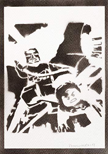 Lego Batman Poster The Movie Handmade Graffiti Street Art - Artwork