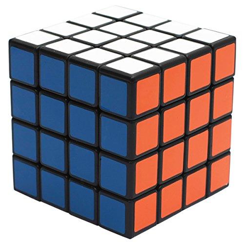 EASEHOME Zauberwürfel 4x4x4 Speed Cube, 4X4 Magic Puzzle Cube Zauber Würfel PVC Aufkleber für Kinder und Erwachsene, Schwarz