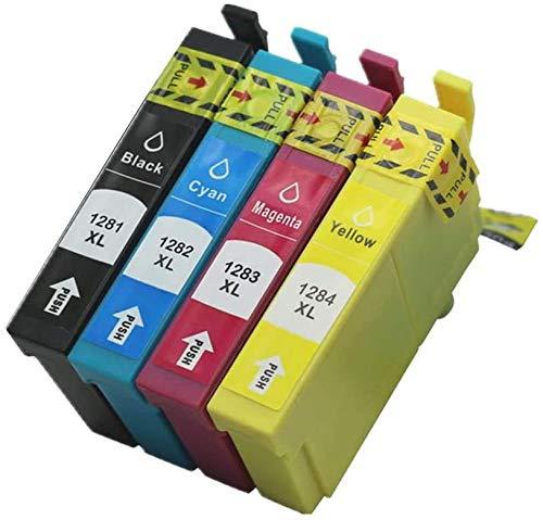 Sumedtec - Pack 1281/1282/1283/1284 XL - Cartuchos de Tinta para impresoras Epson Stylus S22, SX125, SX130, SX230, SX235W, Stylus Office BX305F, BX305FW, BX305FW