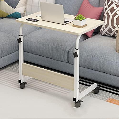 Cajolg Mesa auxiliar ajustable para escritorio, oficina, oficina, hogar, oficina, cama, sofá, mesita de noche, mesa de elevación, mesa auxiliar de jardín al aire libre, B, 80 x 40 cm