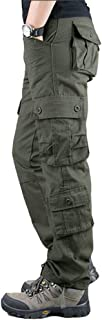N/ A Men's Hard Wearing Cargo Combat Builders Warehouse Workwear Trouser with 8 Pocket Sizes 29 to 42 with Button & Zip Fly