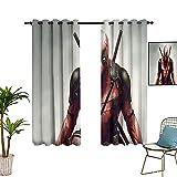 Cortinas de interior dedicadas para el hogar con garras de wolverine en la mano, cortina de aislamiento térmico de 106 x 254 cm