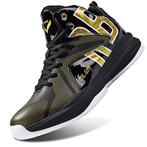 WETIKE Basketball Shoes for Boys Equality Signature Non-Slip Boys Shoes Comfortable Kids Basketball Shoes Breathable Girls High Top Sneakers Running Durable Shoes for Girls Size 2.5 Black