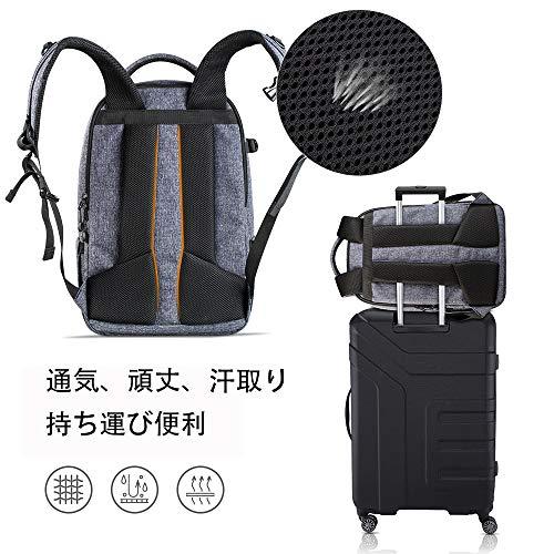 カメラリュック一眼レフカメラバッグ大容量三脚15インチpc収納可レインカバー付バックパックLサイズK&FConceptメーカー直営店