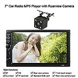 KKmoon Autoradio 7 Pouces Universel 2 Din HD BT Stereo FM MP5 Multimedia Player Ecran Tactile USB/AUX Entree AUX avec HD Camera de Marche Arriere Divertissement de Voiture