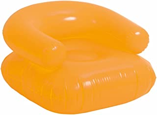 eBuyGB Inflatable Beach Lounge Chair, Orange