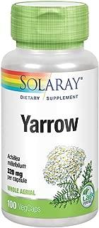 Solaray Yarrow 320mg Capsules, 100 Count