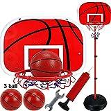 XRDSHY Canasta Baloncesto Infantil con Ajustable Soporte 120/150/170/200cm Altura Opcional Portátiles Canasta Baloncesto para Uso En Interiores O En Exteriores,Red-170cm(72-170cm)