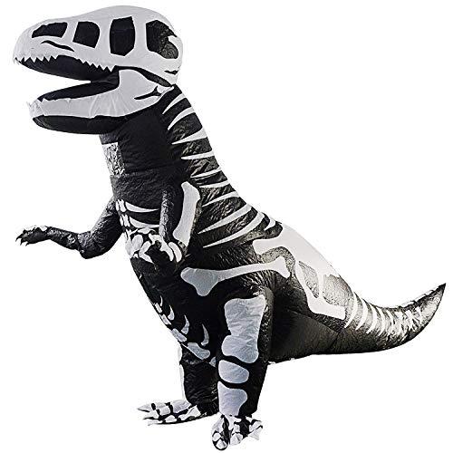 SODIAL Riesen Skelett Aufblasbares Dinosaurier KostüM T-Rex Blow Up Dino KostüM Erwachsener