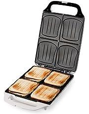 DOMO DO9064C sandwichmaker voor 4 sandwiches in schelpvorm