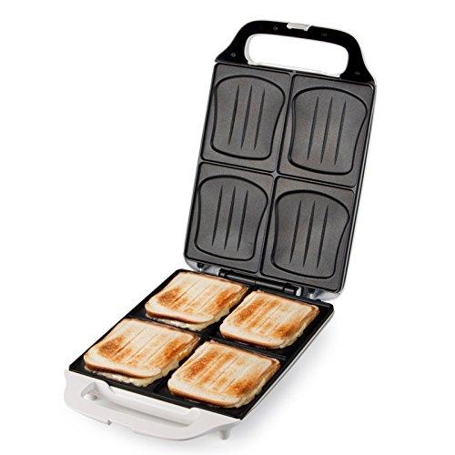 XXL Familien-Sandwich-Toaster DOMO DO9064C Sandwichmaker für 4 Sandwiches in Muschelform