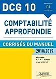 DCG 10 - Comptabilité approfondie 2018/2019 - Corrigés du manuel (2018-2019)