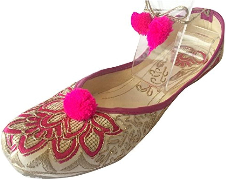 Step n Style Women's Khussa shoes Lace Up Punjabi Jutti Ethnic Mojari Handmade Ballerina shoes Casual Pumps Purple