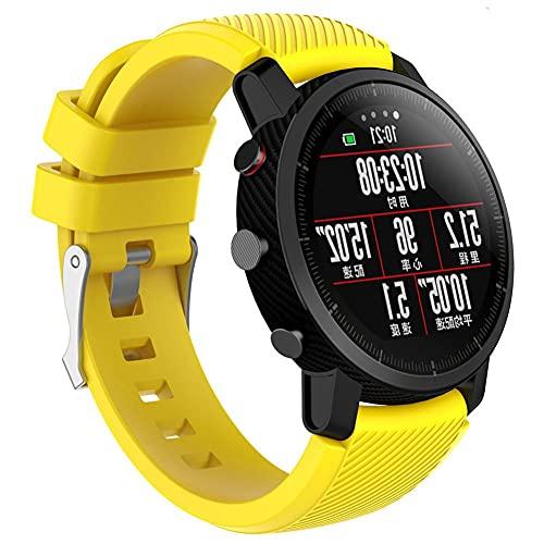 Silicona Pulsera Compatible Con Amazfit Stratos 22mm Banda Para Smartwatch Reloj de Correa