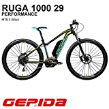 'Gepida Mountain Bike Elektrische 29 Ruga 1000 Active 19 anthrazit/gelb
