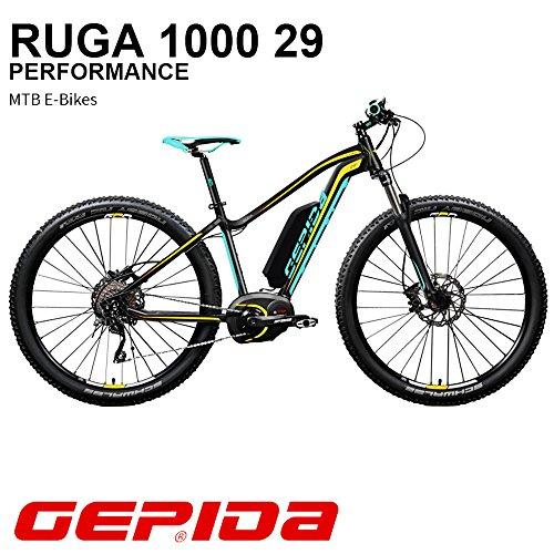 'GEPIDA Mountain Bike eléctrica 29Ruga 1000Active 19Antracita/Amarillo