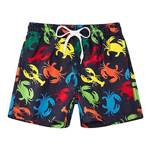 Idgreatim Badehose für Jungen Bench Badehose Swim Shorts Krabbe Kurze Hosen Kurze Laufshorts Bermuda Freizeit Einfarbig