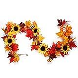 Rcbmn - Juego de guirnaldas artificiales para decoración de otoño, decoración de otoño para interiores y exteriores, bodas, Acción de Gracias, cena, fiesta, chimenea, decoración de Navidad