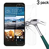 HTC 10 Screen Protector, TANTEK [Bubble-Free][HD-Clear][Anti-Scratch][Anti-Glare][Anti-Fingerprint] Tempered Glass Screen Protector for HTC 10 (One M10,One 10,M10)[2016],-[3Pack]