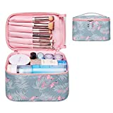 Reise Kosmetiktasche Große Make-up-Tasche Schminktasche Kosmetiktasch Organizer für Damen und Mädchen (Klein, Flamingo)