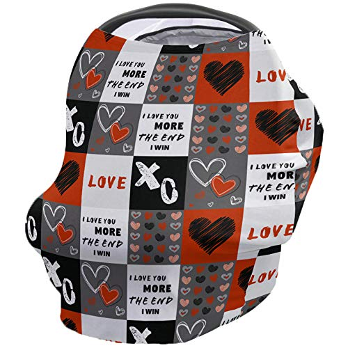 Find Discount Valentines Day Nursing Cover for Baby Breastfeeding, Soft Breathable Stretchy Carseat ...
