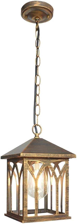 Xiao Fan  IP44 Outdoor wasserdichte Kronleuchter Europischen Retro Auerhalb Deckenpendelleuchte Kreative Garten Pavillon Laterne Regendicht Amerikanischen Vintage Droplight  (Farbe   Bronze)