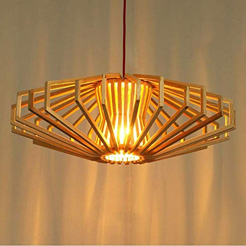 Pendelleuchten Kronleuchter Holz Ceili Lighti Fixture Restaurant Kreative Laterne Hai-Lampe for Livi Zimmer Dini Zimmer Büro Korridor yqaae