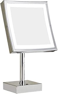 Vanity Mirror Desktop Makeup MirrorLED Light Touch Switch 180 Degree Rotating Bracket Single Side Copper HD for Family