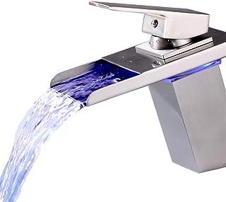 ROTOOY Grifos Grifo De Fregadero del Fregadero De La Galjanoplastia Giratoria De La Cocina Grifo Caliente Y Fría De Cobre Lleno Suministros de limpieza y saneamiento Accesorios de baño