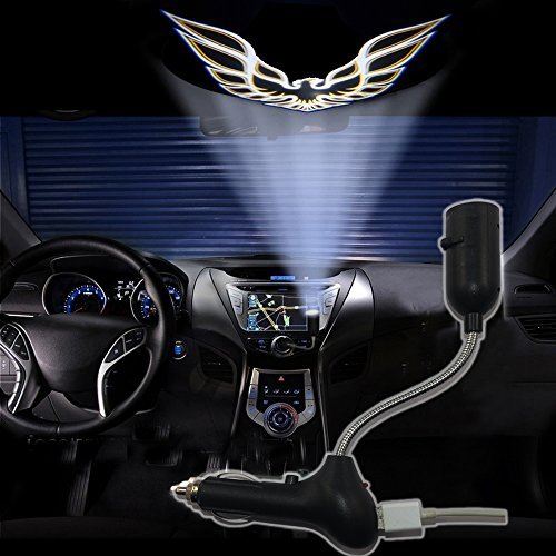 SHE'O® Golden Noble Cool Eagle USB Car roof projection lamp Cigarette lighter projector ghost logo LED light lamp projection light projector atmosphere reading light