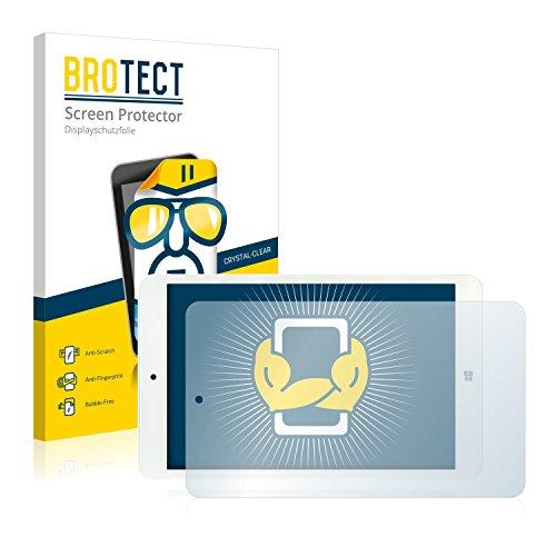 BROTECT Schutzfolie kompatibel mit i.onik TW 8 (2 Stück) klare Bildschirmschutz-Folie