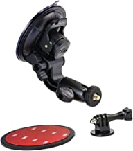 Heavy Duty Suction Mount for Cameras, Woleyi Flexible Windshield Dash Car Mounts, Universal Camera Stand for Road Trip
