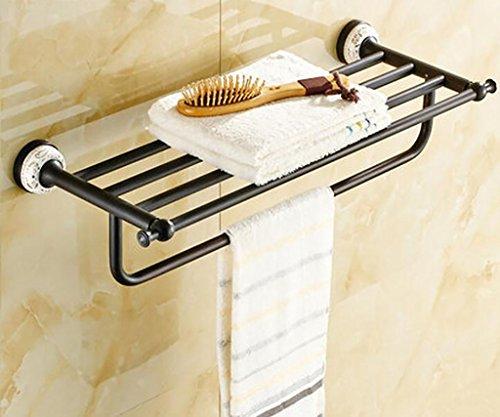 FAFZ Porte-serviette de style européen, accessoires de salle de bains en bronze, serviette antique (couleur : 4#)
