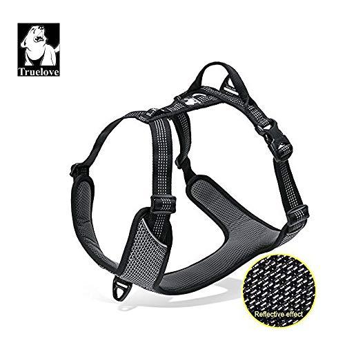 Vivi Bear Hundegeschirr Anti Pull Sicherheitsweste Mit 3M Reflective Stripes Easy Control verstellbar gepolstert,Haustiergeschirr mit Hundeleinenring,geeignet für große/mittlere/kleine Hunde Dog(Neu)