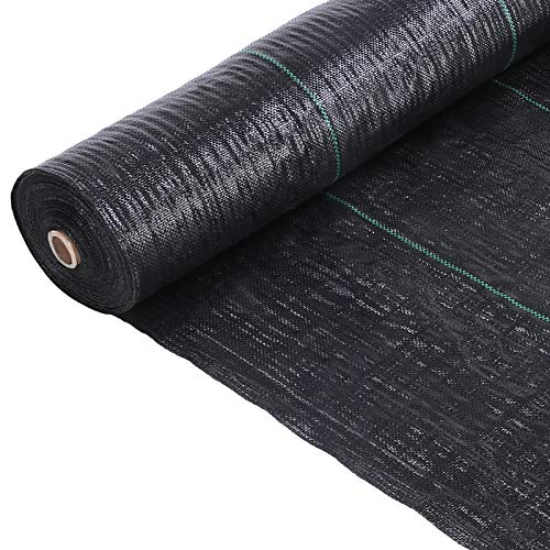 FIXKIT 1mx50m Roll Anti-weed Mesh, Heavy Duty Weed Membrane Control Fabric, for the Development of Weeds, Resistant to Breakage, Permeable, 100 g / m² High UV Stabilization Tape Fabric