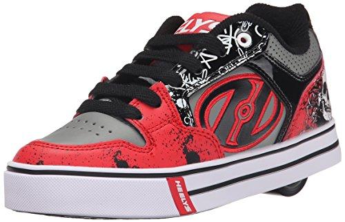 Heelys Motion Plus (770533), Unisex-Kinder Sneakers - Red/Black/Grey/Skulls (Red/Black/Grey/Skulls), 34 EU