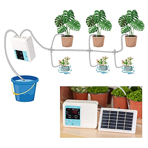 Exanko Bomba JardíN Inteligente Dispositivo de Riego AutomáTico Carga de EnergíA Solar Planta en...