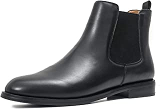 ONEENO Women's Classic Leather Chelsea Boots