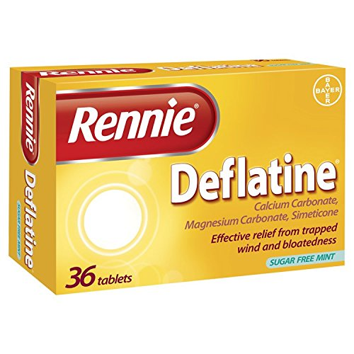 Rennie Deflatine Tablet for Trapped Wind and Bloatedness - 36 Tablets,