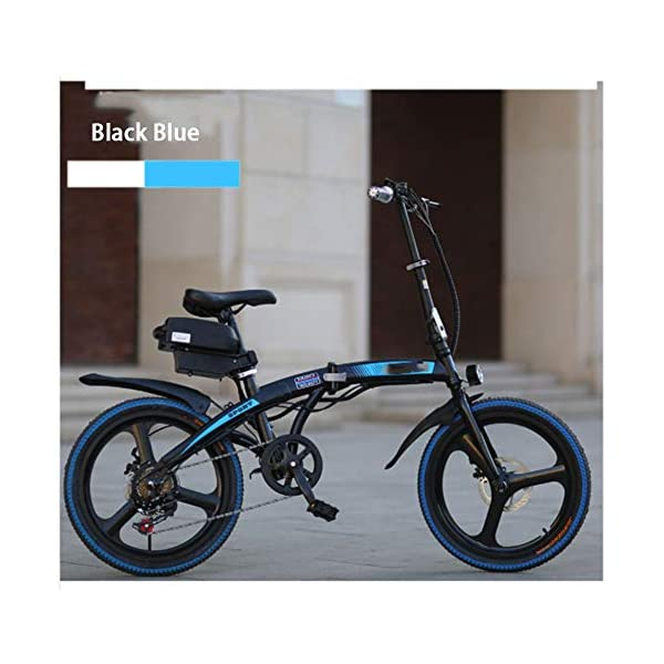 """Electric Bikes HWOEK Folding Electric Bike for Adults, 250W Motor 20"""" Eco-Friendly Electric Bicycle with Removable 36V 8AH/10 AH Lithium-Ion Battery 7 Speed Shifter Disc Brake"""
