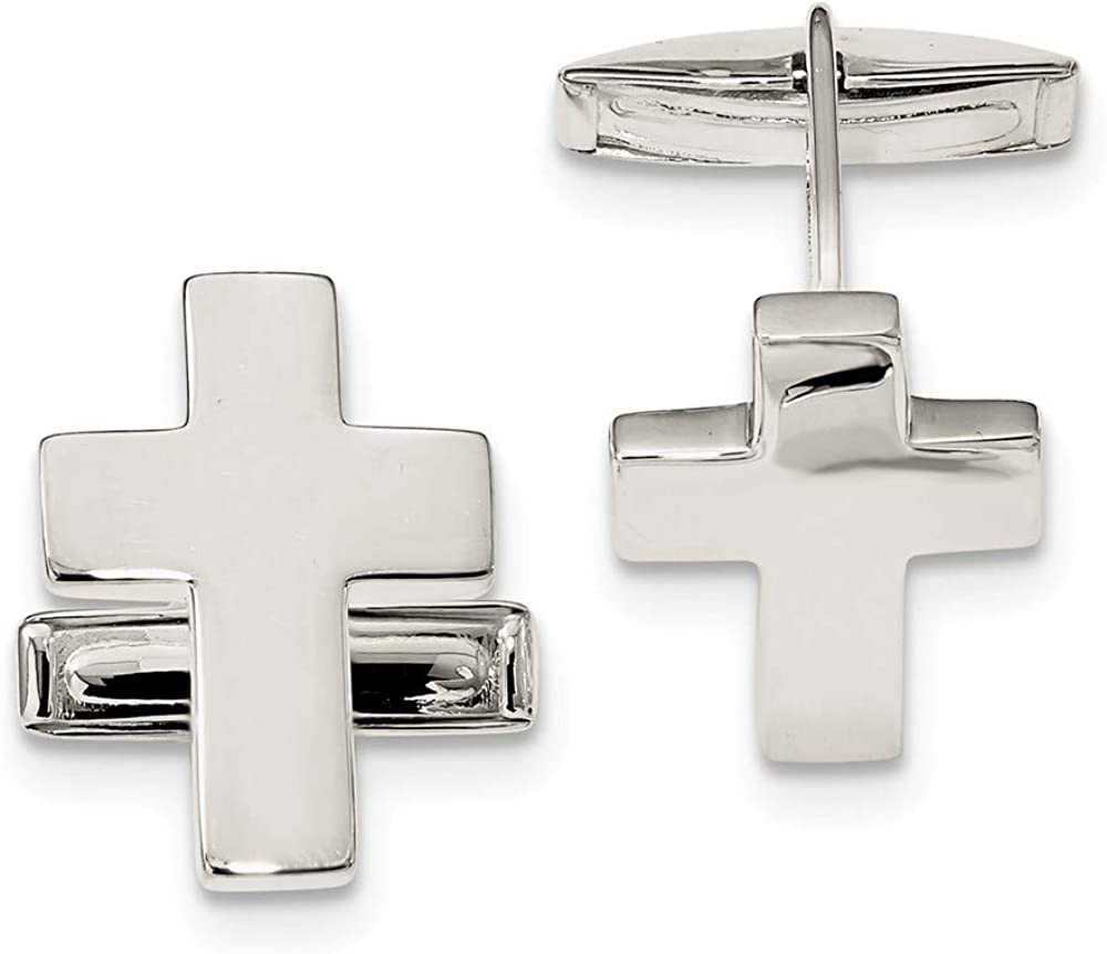 Charlotte Mall Ryan Jonathan Fine Jewelry Sterling Silver At the price Cuff Men's Cross Link