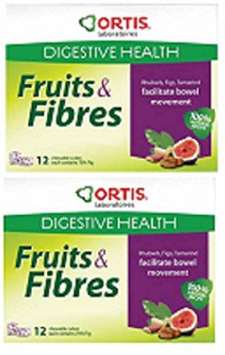 Ortis Ortisan Natural Laxante Frutas y Cubos de fibra, nuevo sabor – RHUBARB/TAMARIND/FIG
