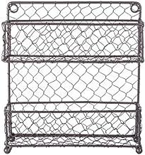 DII Farmhouse Vintage Decorative Metal Pantry Organizer, 9.45Lx2.3Wx10H, 2 Tier Spice Rack-Rustic