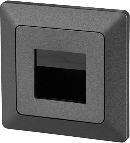 Lunivers LED Wandeinbauleuchte Stufenleuchte anthrazit 230V - passend in 60er Schalterdosen - warmweiß (3000 K)